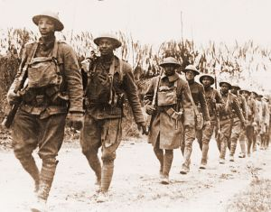 US African American infantry unit near Verdun in WWI (Public Domain; source Wikimedia)
