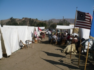 A Military Camp at a Re-enactment