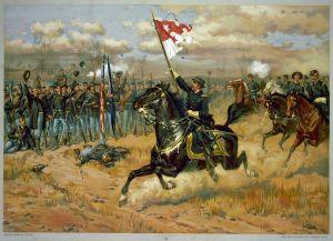 Artist's Depiction of Sheridan's Ride at Cedar Creek  (Public Domain)