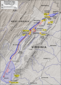Map of the Shenandoah Valley Campaign in Autumn 1864 Attribution: Map by Hal Jespersen, www.cwmaps.com