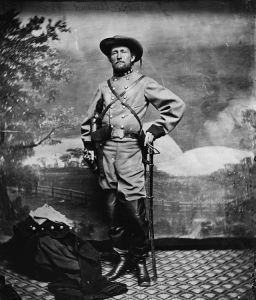 John Mosby Confederate Cavalry and Partisan Leader in the Shenandoah Valley during 1864 (Public Domain)