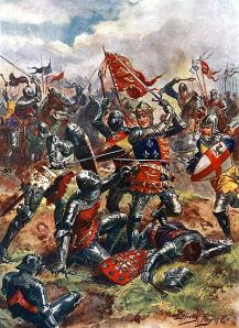 A painting of King Henry V at Agincourt