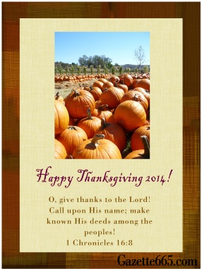 Gazette665 Thanksgiving 2014