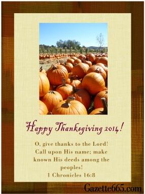 Gazette665 Thanksgiving 2014