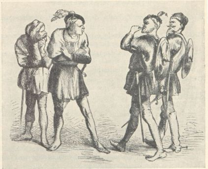 Scene 1 - The Feuding Capulets and Montagues (Public Domain)