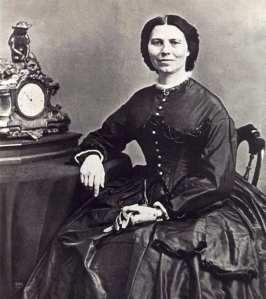 Clara Barton, photo taken in 1866 (Public Domain)