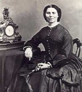 Clara Barton, photo taken in 1866 (Public Domain)