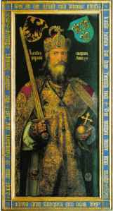 Painting of Charlemagne by Artist Durer (1513) Public Domain