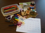 Supplies for January 2014 Holiday Craft