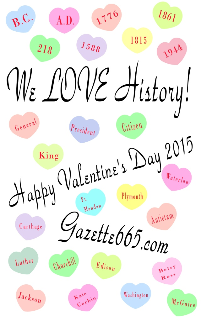 Historical Conversation Hearts Valentines Day 2015 Gazette665