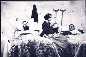This is NOT a photograph of Miss Kate, but it represents some of the duties of a Civil War Nurse