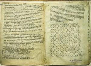 """Original Manuscript containing """"Pangur Ban"""""""