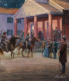 Detail from a Mort Kunstler painting, no copyright infringement intended.