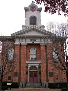 Adams County Courthouse is in Gettysburg (Public Domain Photo)