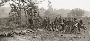 Union Soldier burial crew at Antietam, 1862