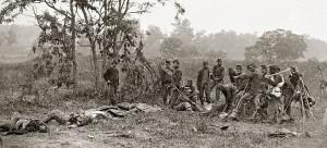 Union Soldier burial crew at Antietam, 1862