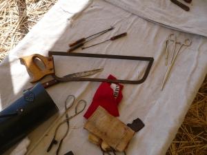 Civil War Surgical Instruments (Photo by Miss Sarah, Prado Park 2015)