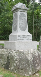 27th Indiana Monument at Gettysburg (http://gettysburg.stonesentinels.com/union-monuments/indiana/27th-indiana/)