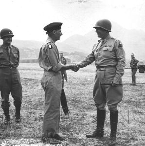 British General Montgomery and American General Patton