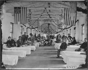 Wounded soldiers in general hospital, American Civil War
