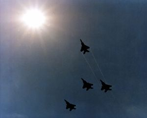 750px-Four_F-15_Eagle_aircraft_execute_a_Missing_Man_formation_as_they_fly_over_the_Pentagon_during_Memorial_Day_services_DF-SC-82-03512