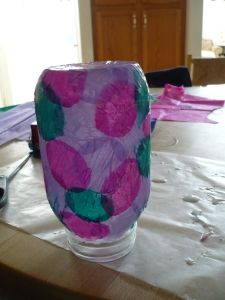 "Mother's Day Craft - ""Stained Glass"" Candle Holder"