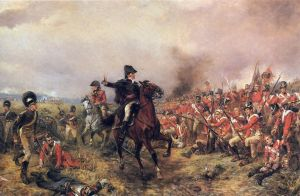 "One of my all-time favorite historical paintings - ""Wellington at Waterloo"""