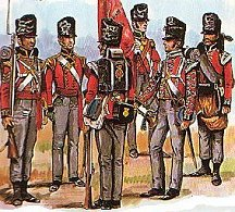 An example of British Infantry uniforms