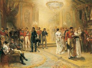 An artist's idea of the Duchess of Richmond's Ball