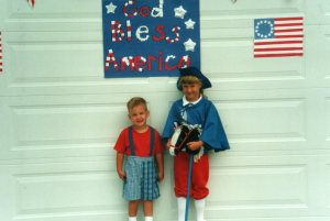 """""""Paul Revere"""" at the 4th of July Kids' Parade"""