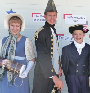 """""""Dolley Madison"""" joins """"Commodore Perry"""" and """"Francis Scott Key"""" at the 2012 parade, commemorating the War of 1812"""