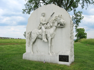 17th PA Cavalry Monument at Gettysburg (http://gettysburg.stonesentinels.com/union-monuments/pennsylvania/pennsylvania-cavalry/17th-pennsylvania-cavalry/)