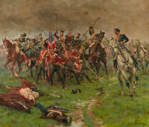 British Infantry during the Napoleonic Era (not a Waterloo painting)