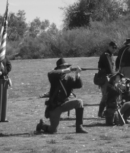 Union Cavalry, dismounted - this the way the 17th would have been fighting at Gettysburg.