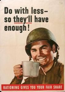 Poster encouraging Americans to support the war effort.
