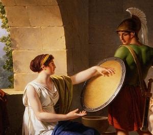 Jean-Jacques-François_Le_Barbier_-_A_Spartan_Woman_Giving_a_Shield_to_Her_Son