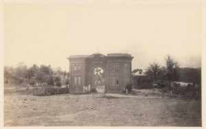 This is the Cemetery Gatehouse, where the Thorn family lived.