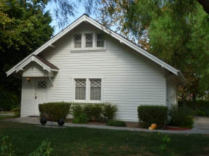 This home is where Richard Nixon grew up; now it stands in the gardens of the Richard Nixon Presidential Library