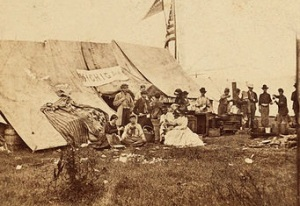 Southern photos are scarce and this picture is actually of a Union relief agency in the field, but it gives an idea of the field work done by GRHA.