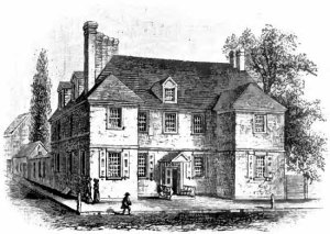 A sketch of William Penn's home in Pennsylvania