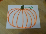 Holiday History and Craft October 2015 - Yarn Pumpkin