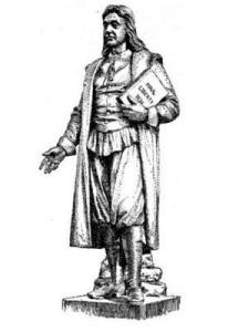 Sketch of a statue of Roger Williams