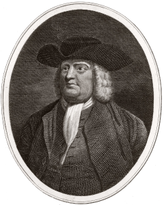 A portrait of William Penn; he is wearing the simple clothing styles adopted by the Quakers. (Public Domain)