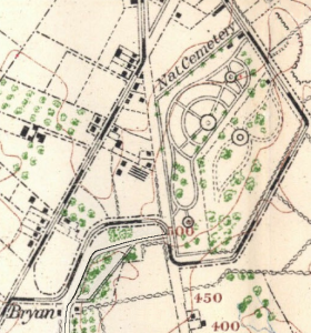 A map of Gettysburg National Cemetery, 1904