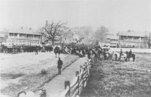 A scene from Gettysburg on November 19, 1863