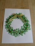 Holiday History & Craft December 2015 Christmas Wreath Painted