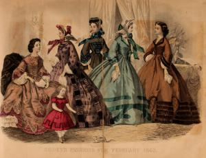Godey's Lady's Book (Fashion plate from 1863)