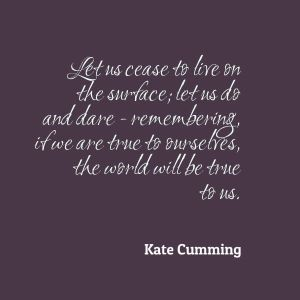 Kate Cumming Quote