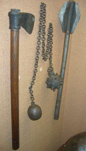 Battle Axe, Flail, and Mace - Yikes!