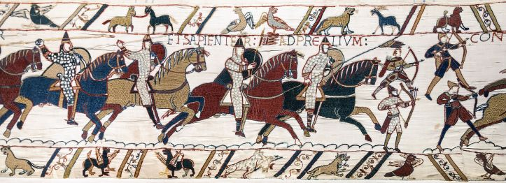 Norman Knights during the Battle of Hastings, depicted on the Bayeux Tapestry.